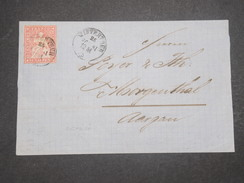 SUISSE - Lettre De Winterthun Pour Aargau En 1861 - L 9740 - Lettres & Documents