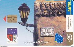 Nº 237 TARJETA DE URUGUAY DE COLONIA (CHIP G5 ROJO) - Uruguay