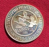 YUGOSLAVIA 500 DINARA 1985, SILVER, 12.96 Gr., HIGH QUALITY, WORLD SKI JUMPING PLANICA, (126) - Joegoslavië