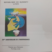 DJIBOUTI 2007 EMPTY FIRST DAY COVER FDC 30 EME ANNIVERSAIRE INDEPENDANCE ANNIVERSARY INDEPENDENCE S/S Michel Mi 162 RARE - Djibouti (1977-...)