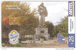 Nº 376 TARJETA DE URUGUAY DE MONUMENTO A DIONISIO DIAZ - Uruguay