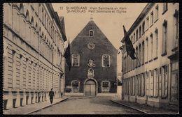 SINT NIKLAAS - St NICOLAAS ** Klein Seminarie En Kerk ** - Niet Courant En Verstuurd In 1924 - Sint-Niklaas