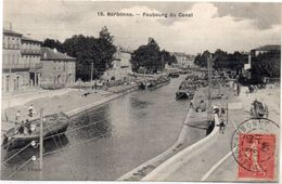 NARBONNE - Faubourg Du Canal - Péniches   .(98985) - Narbonne