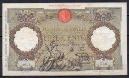 551-Italie Billet De 100 Lire 1940 M622 - 100 Lire