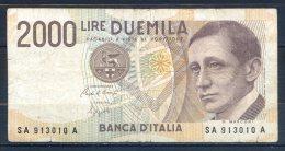 506-Italie Billet De 2000 Lire 1990 SA913A - [ 2] 1946-… : Républic