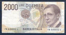 506-Italie Billet De 2000 Lire 1992 FB646L - [ 2] 1946-… : Républic