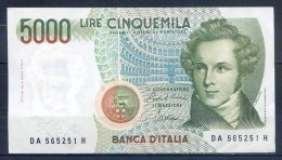 509-Italie Billet De 5000 Lire 1985 DA565H - [ 2] 1946-… : République