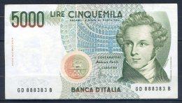 498-Italie Billet De 5000 Lire 1996 GD888B - [ 2] 1946-… : Républic