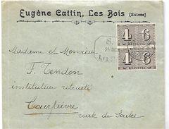 SUISSE 1943 Lettre   Du 25 Mars 1943   AVEC BLOC  Les Bois Vers Courfaivre - Postmark Collection