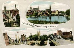 Gruss Aus Straubing Mehrbildkarte 1961 (001345) - Straubing