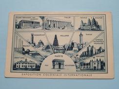 """EXPO COLONIALE Internationale PARIS Anno 1931 """" ( Pub. E. GEURTS Bruxelles Agence De Voyages ) ! - Ausstellungen"""