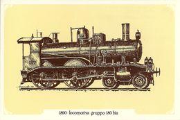Locomotiva A Vapore Gruppo 180 Bis, Anno 1890 - Società Nazionale Di Mutuo Soccorso Fra Ferrovieri - Treni