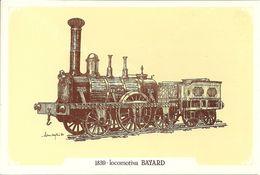 Locomotiva A Vapore Bayard, Anno 1839 - Società Nazionale Di Mutuo Soccorso Fra Ferrovieri - Treni