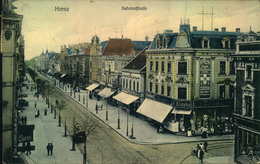 1908, HERNE, Bahnhofstrasse, Werbung, Cramers Kunstanstalt,Dortmund Dess. 23629, Leichter Mittelbug, Gebrauchsspuren, - Sin Clasificación