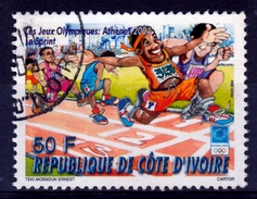 Ivory Coast, Summer Olympics 2004, Athens, Greece, 50f, 2004, VFU - Ivory Coast (1960-...)