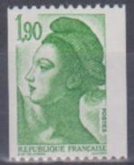 France - Année 1986 - N° 2426 - Liberté De Gandon - Timbre De Roulette - Coil Stamps