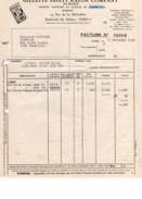FACTURE  FACTURE GILLETTE  SAFETY RAZOR COMPANY - PARIS - 1949 - Droguerie & Parfumerie
