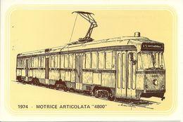 Filobus Motrice Articolata 4800, Anno 1974 - Società Nazionale Di Mutuo Soccorso Fra Ferrovieri - Autobus & Pullman
