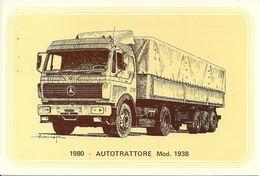 Camion, Autotrattore Mercedes Mod. 1938, Anno 1980 - Società Nazionale Di Mutuo Soccorso Fra Ferrovieri - Camion, Tir