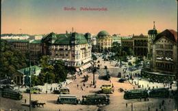 1916, BERLIN, Potsdamer Platz, Straßenbahn, Bus, Pferdewagen, Radium Nr. 30, Gelaufen, Gebrauchsspuren - Alemania