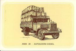 Camion, Autocarro Diesel, Anni '30 - Società Nazionale Di Mutuo Soccorso Fra Ferrovieri - Camion, Tir
