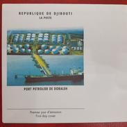 DJIBOUTI 2006 - EMPTY FDC COVER VIERGE E - DORALEH PORT BOAT BATEAU SHIP PETROLIER PETROLEUM HARBOR OIL Mi 808 RARE - Djibouti (1977-...)