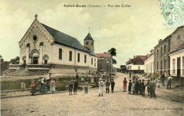 CPA - SAINT-OUEN (80) - Aspect De La Rue Des Ecoles En 1907 - Saint Ouen