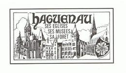 Haguenau, Ses églises, Ses Musées, Sa Forêt Format : 21 X 10,5 Cm, Carte Double - Haguenau
