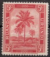 68 Ruanda Urundi 1942 Oil Palms Nuovo MNH - Ruanda