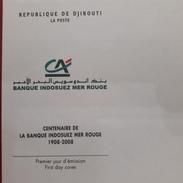 DJIBOUTI -EMPTY FDC COVER VIERGE - 2008 Mi. 812 100 Ans Banque Indosuez Mer Rouge - RARE - Djibouti (1977-...)