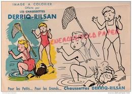 62 - RILSAN - PECHE ENFANT- RARE IMAGE ASPECT BUVARD A COLORIER DES CHAUSSETTES DERRIQ-RILSAN - - Vieux Papiers