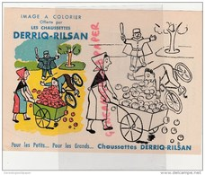 62 - RILSAN - RARE IMAGE ASPECT BUVARD A COLORIER DES CHAUSSETTES DERRIQ-RILSAN - - Vieux Papiers