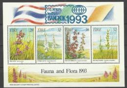 Irlande BF N° 14 Neuf Sans Charnière - 1993 Fleurs Bloc Et Feuillet - Blocchi & Foglietti