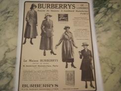 ANCIENNE PUBLICITE MAGASIN BURBERRYS - Patrons