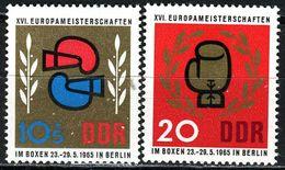DDR - Michel 1100 / 1101 - ** Postfrisch (B) - Europameisterschaften Im Boxen - [6] Oost-Duitsland