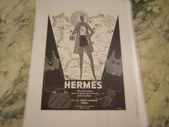 ANCIENNE PUBLICITE ENSEMBES DE BAIN HERMES - Habits & Linge D'époque