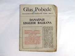 WW2 ALLIED PROPAGANDA GLAS POBEDE No.9 / 1944 Original Yugoslav Drop Leaflet - RAF & USAAF Airborne Magazine - Other