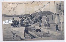 ST-THOMAS- LANDING MAILS- D.W.I - Postcards