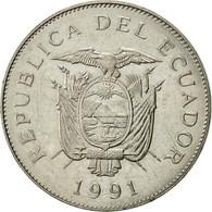 Équateur, 50 Sucres, 1991, TTB+, Nickel Clad Steel, KM:93 - Equateur