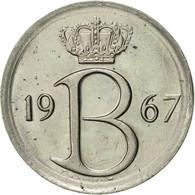 Belgique, 25 Centimes, 1967, Brussels, TTB+, Copper-nickel, KM:153.1 - 02. 25 Centimes