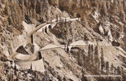 Switzerland Sustenstrasse Kurve Wendeplatte 1955 Photo - VS Valais