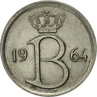 Belgique, 25 Centimes, 1964, Brussels, TTB+, Copper-nickel, KM:154.1 - 02. 25 Centimes