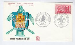 1970 Lens FRANCE FDC MINING Miners Lamp  Stamps Cover Minerals Energy - Minerals