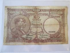 Belgique/Belgium 20 Francs 1940 Banknote - [ 2] 1831-... : Belgian Kingdom