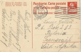 PK 75  Bern - Pretoria Transvaal                1922 - Interi Postali