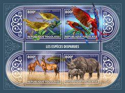 TOGO 2017 - Extinct Rhinoceros. Official Issue. - Rhinozerosse