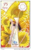 Kazakhstan-flowers-75 Units-(big Number)-used Card+1 Card Prepiad Free(mark) - Kazakhstan