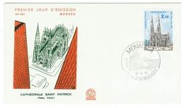 Monaco // FDC // 1979 //  Cathédrale Saint Patrick - FDC