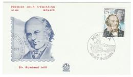 Monaco // FDC // 1979 //  Sir Rowland Hill - FDC