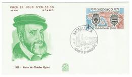 Monaco // FDC // 1979 //  Visite De Charles Quint - FDC